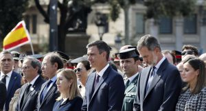 King Felipe VI, Pedro Sánchez and Quim Torra