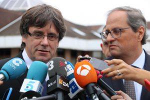 Quim Torra and Carles Puigdemont