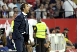 Real Madrid's coach Julen Lopetegui