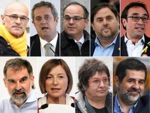 Catalan leaders in jail