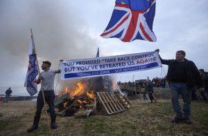 Fishermen Brexit protest