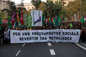 Students, teachers on strike.