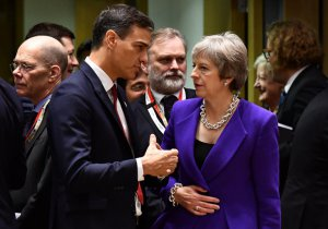 Pedro Sánchez and Theresa May
