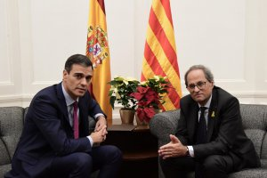 Pedro Sánchez and Quim Torra