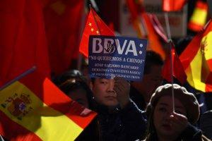 BBVA Chinese protest