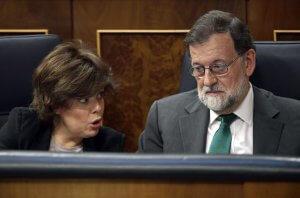 Mariano Rajoy and Soraya Saenz de Santamaria