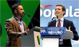 Santiago Abascal and Pablo Casado