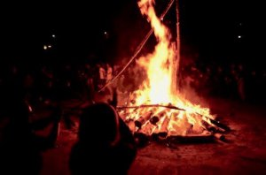 Sant Joan bonfire