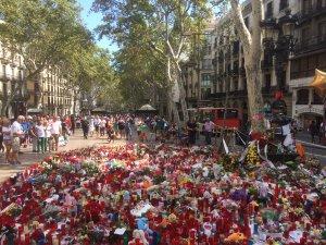 La Rambla floral tributes