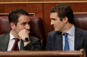 Teodoro García Egea and Pablo Casado
