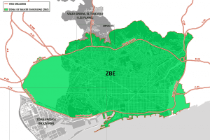 Map of low-emissions zone