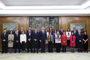 Spanish cabinet ministers with Felipe VI